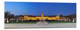 Foam board print  Panoramic view of palace Karlsruhe Germany - FineArt Panorama
