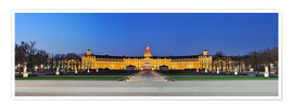 Premium poster  Panoramic view of palace Karlsruhe Germany - FineArt Panorama