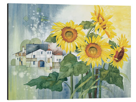 Aluminium print  Rays of sun flowers - Franz Heigl