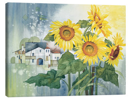 Canvas print  Rays of sun flowers - Franz Heigl