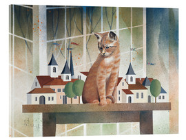 Acrylic print  View of the cat - Franz Heigl