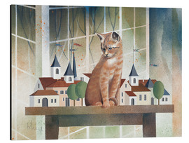 Alu-Dibond  View of the cat - Franz Heigl