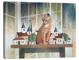 Canvas print  View of the cat - Franz Heigl