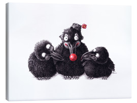 Canvas print  Three Ravens, One Clown - Stefan Kahlhammer