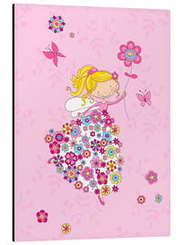 Aluminium print  Flower Princess - Fluffy Feelings