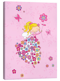 Canvas print  Flower Princess - Fluffy Feelings