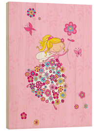 Wood print  Flower Princess - Fluffy Feelings