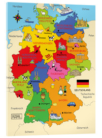 Acrylic print  German states for children (German) - Fluffy Feelings