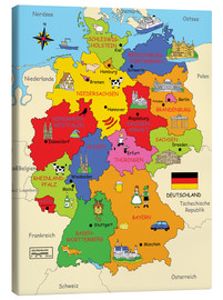 Canvas print  German states for children (German) - Fluffy Feelings