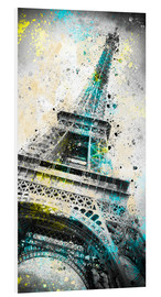 Foam board print  City Art PARIS Eiffeltower IV - Melanie Viola