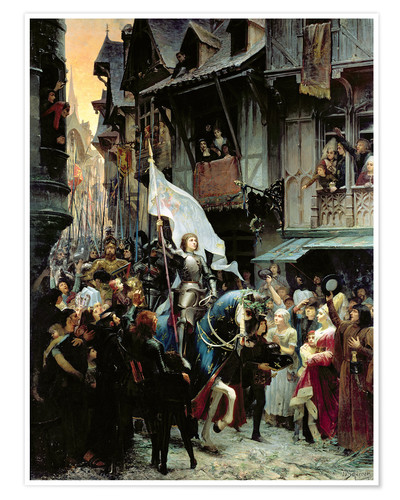 Premium poster The arrival of Joan d'Arc
