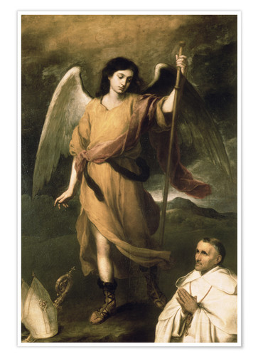 Premium poster Archangel Raphael with Bishop Domonte