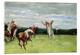 Acrylic print  Polo players in Jenischpark - Max Liebermann