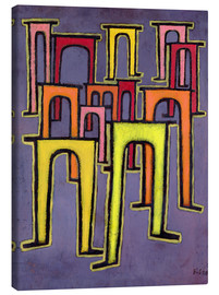 Canvas print  Revolution of the Viaduct - Paul Klee