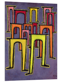 Foam board print  Revolution of the Viaduct - Paul Klee