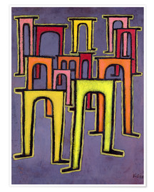 Premium poster  Revolution of the Viaduct - Paul Klee