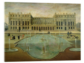 Acrylic print  Chateau de Versailles from the Garden Side - French School