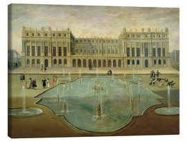 Canvas print  Chateau de Versailles from the Garden Side - French School