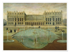 Premium poster  Chateau de Versailles from the Garden Side - French School