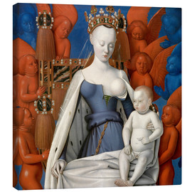 Canvas print  Virgin and Child Surrounded by Angels - Jean Fouquet