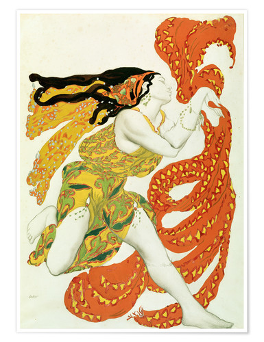 Premium poster Costume design for a bacchante in 'Narcisse' by Tcherepnin