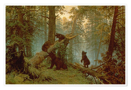 Premium poster  Morning in a pine forest - Ivan Ivanovich Shishkin