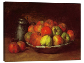 Canvas print  Still Life with Apples and a Pomegranate - Gustave Courbet
