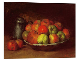 Foam board print  Still Life with Apples and a Pomegranate - Gustave Courbet