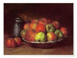 Premium poster Still Life with Apples and a Pomegranate
