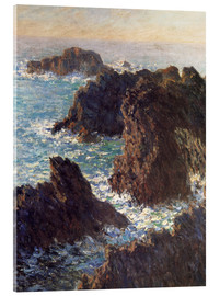 Acrylic print  The Rocks of Belle-Ile - Claude Monet