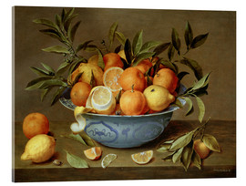 Acrylic glass  Still Life with Oranges and Lemons - Jacob van Hulsdonck