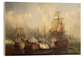 Wood print  The Redoutable at Trafalgar - Auguste Etienne Francois Mayer