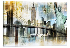 Canvas  Skyline New York Fraktal I - Städtecollagen