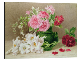 Alu-Dibond  Roses and Lilies - Mary Elizabeth Duffield
