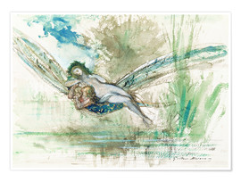 Premium poster  Dragonfly - Gustave Moreau