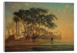 Wood print  Arab oasis - Narcisse Berchere