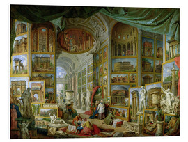 Foam board print  Gallery of Views of Ancient Rome - Giovanni Paolo Pannini
