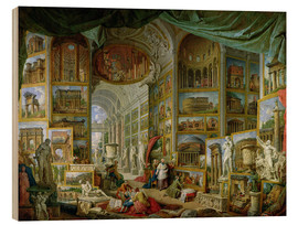 Wood print  Gallery of Views of Ancient Rome - Giovanni Paolo Pannini