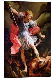 Canvas  The Archangel Michael defeating Satan - Guido Reni