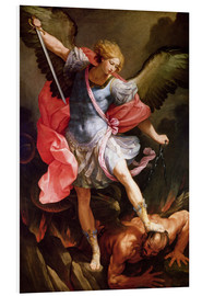 Foam board print  The archangel Michael defeating Satan - Guido Reni