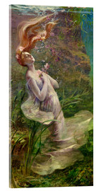 Acrylic print  The drowning Ophelia - Paul Albert Steck