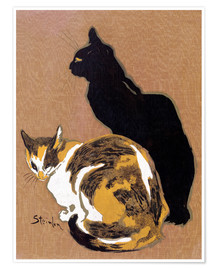 Premium poster  Two Cats - Théophile-Alexandre Steinlen