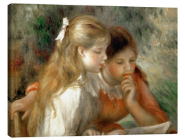 Canvas print  The Reading - Pierre-Auguste Renoir