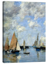 Canvas print  The Jetty at High Tide - Eugène Boudin