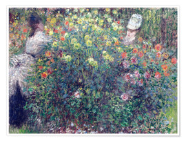 Premium poster Women in the Flowers