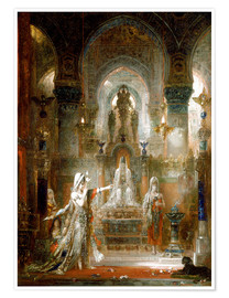 Poster  Salome dancing before Herod - Gustave Moreau