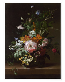 Premium poster Still life with flowers