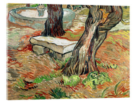 Acrylic print  The Bench at Saint-Remy - Vincent van Gogh