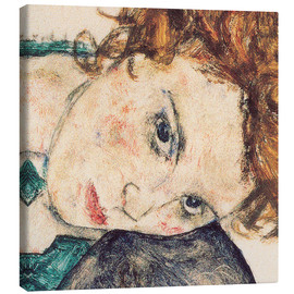 Canvas print  Seated woman with bent knee, detail - Egon Schiele