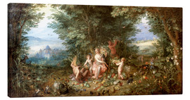 Canvas print  Allegory of the Earth - Jan Brueghel d.Ä.
